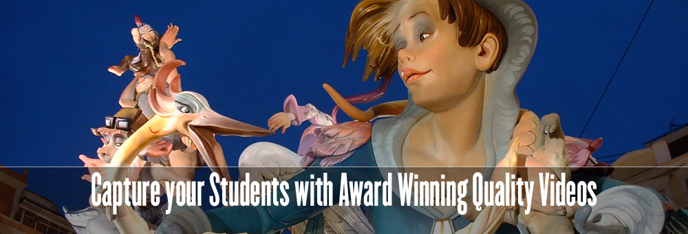 Capture your Students with Award Winning Quality Videos