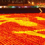 ton of orange lanterns